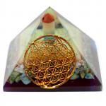 Orgonite Flower of Life Pyramid (Large)