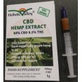 CBD Hemp Extract 50%CBD Paste, 1g Syringe (500mg CBD)