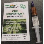 CBD Hemp Extract 50%CBD Paste, 3g Syringe (1500mg CBD)