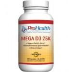 Vitamin D3, Mega 25K - 25000iu (60 caps)