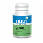 Vitamin D3, High Strength (5,000iu) by Nutri Advanced (60 caps)