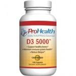 Vitamin D3, 5,000iu (100 caps)